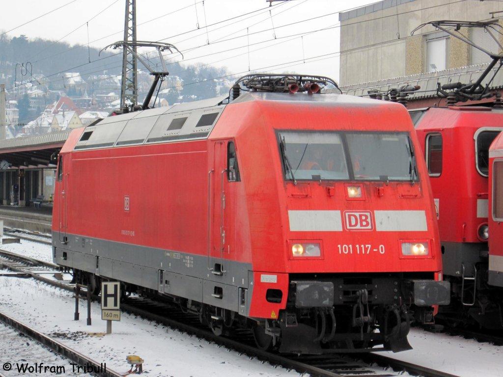 101 117-0 im Ulmer Hbf aufgenommen am 21.12.2009