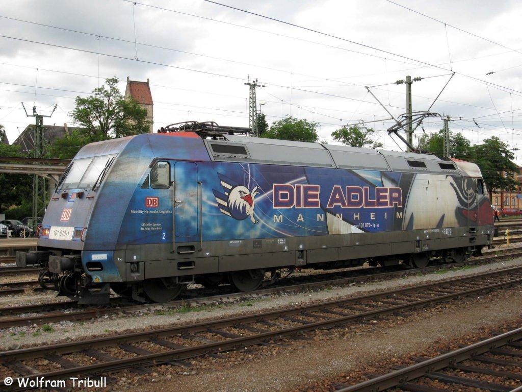 101 070-1  DIE ADLER MANNHEIM  am 27.06.2012 abgestellt im Bahnhof Singen