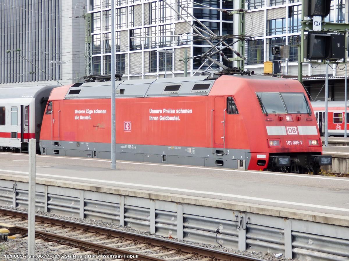 101 005-7 aufgenommen im Hauptbahnhof Stuttgart am 06.11.2015