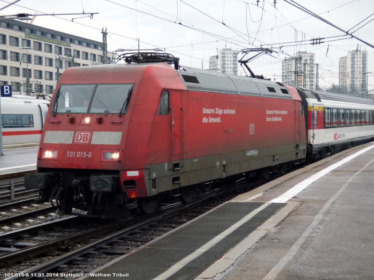 101 015-6 aufgenommen am 11.01.2014 im Hauptbahnhof Stuttgart
