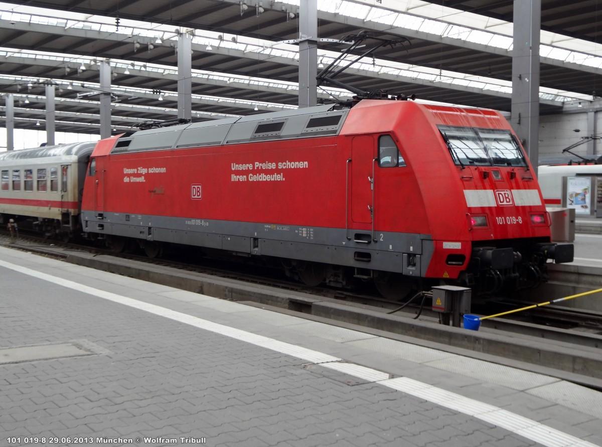 101 019-8 aufgenommen am 29.06.2013 im Hauptbahnhof München