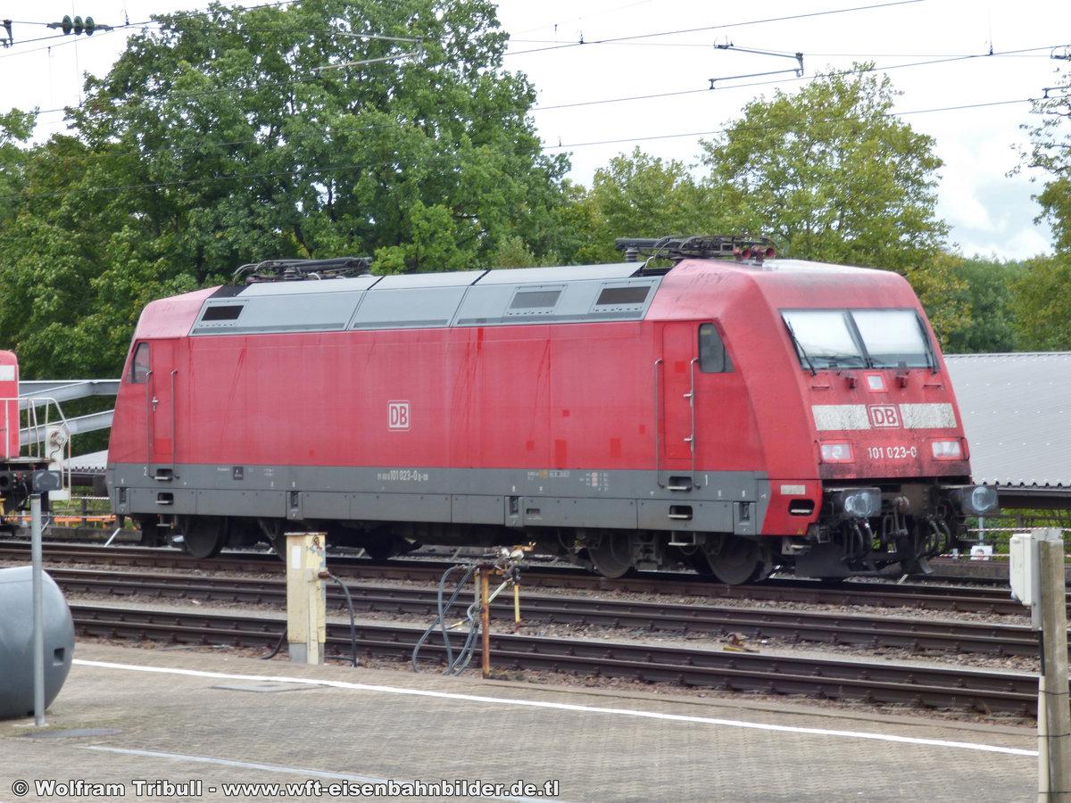 101 023-0 aufgenommen am 09.09.2017 in Karlsruhe Hbf
