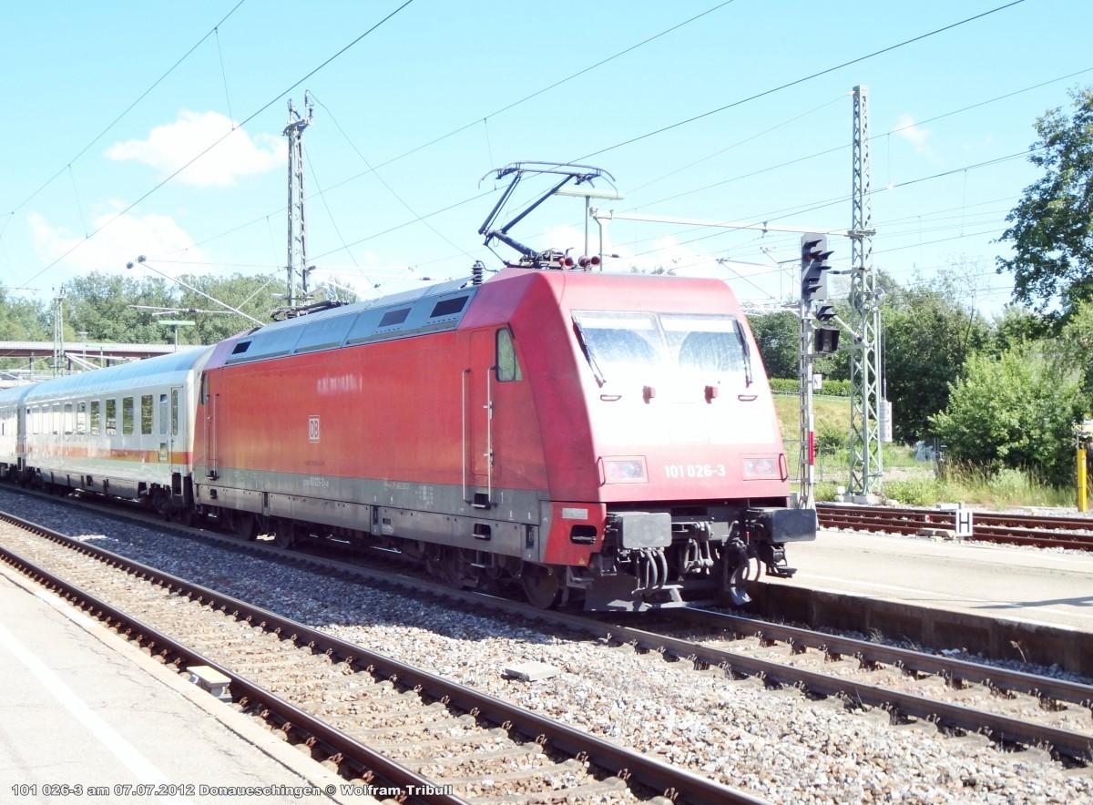 101 026-3 aufgenommen am 07.07.2012 im Bahnhof Donaueschingen