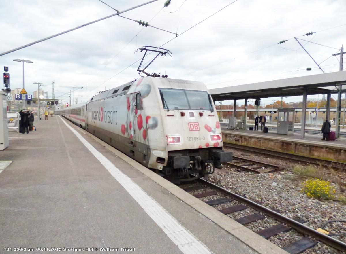 101 050-3 aufgenommen im Hauptbahnhof Stuttgart am 06.11.2015