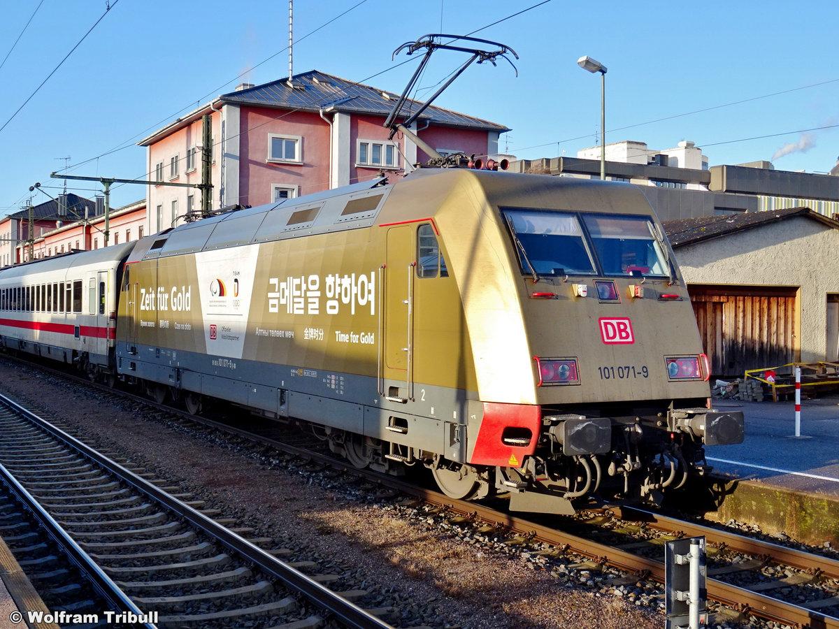 101 071-9 aufgenommen am 18.01.2020 im Bahnhof Singen (Hohentwiel)