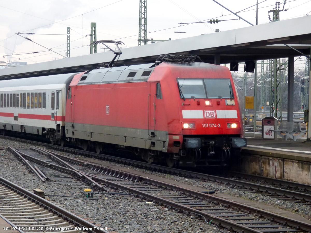101 074-3 aufgenommen am 11.01.2014 im Hauptbahnhof Stuttgart