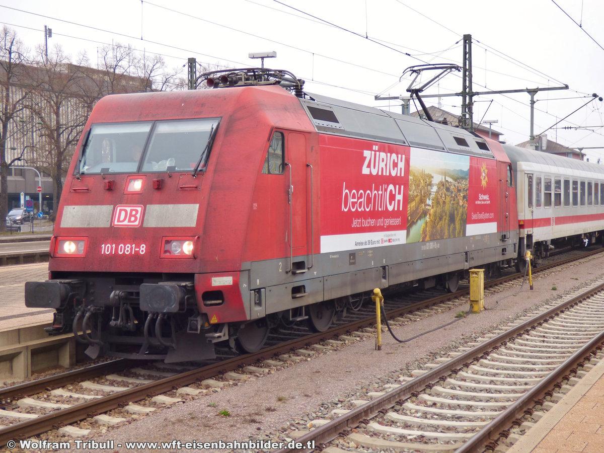 101 081-8 aufgenommen am 15.03.2015 im Bahnhof Singen (Hohentwiel)
