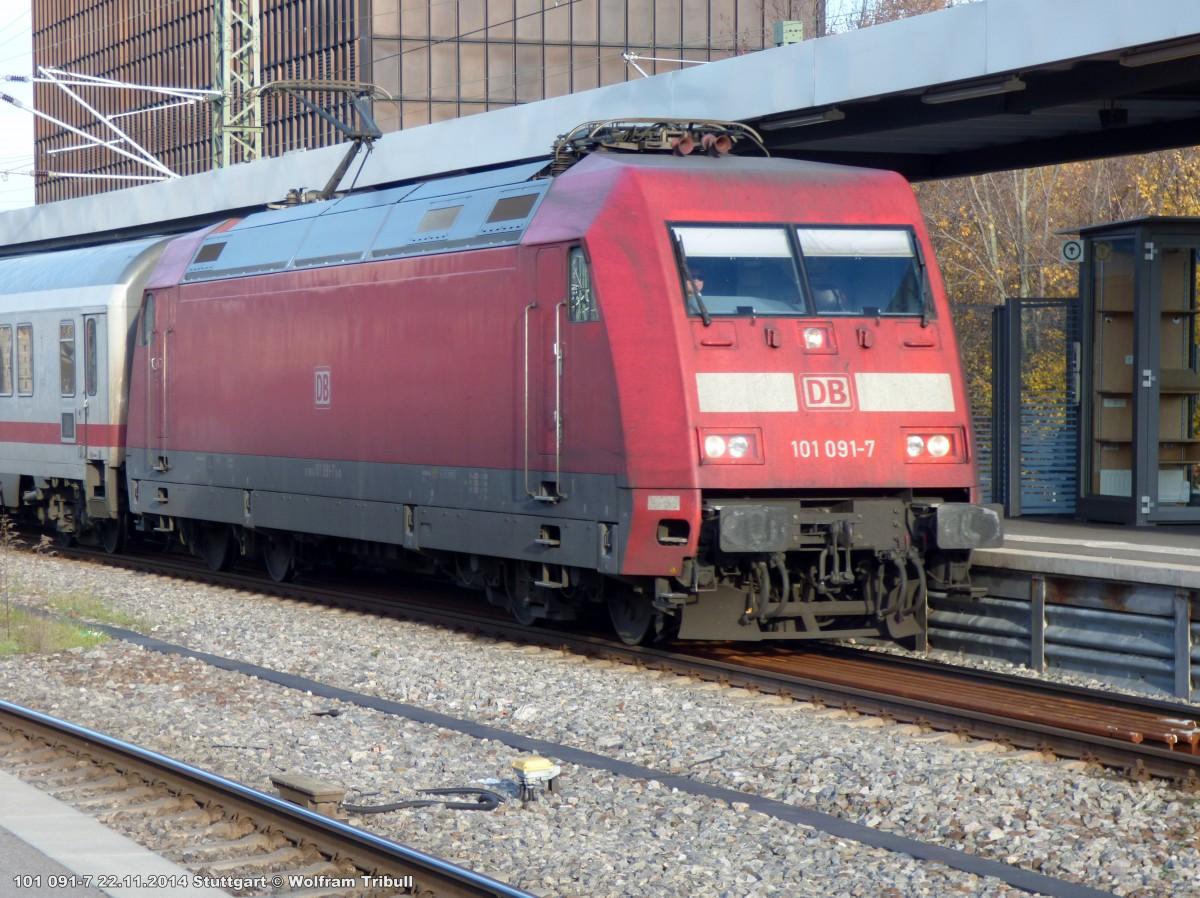 101 091-7 aufgenommen am 22.11.2014 im Hauptbahnhof Stuttgart