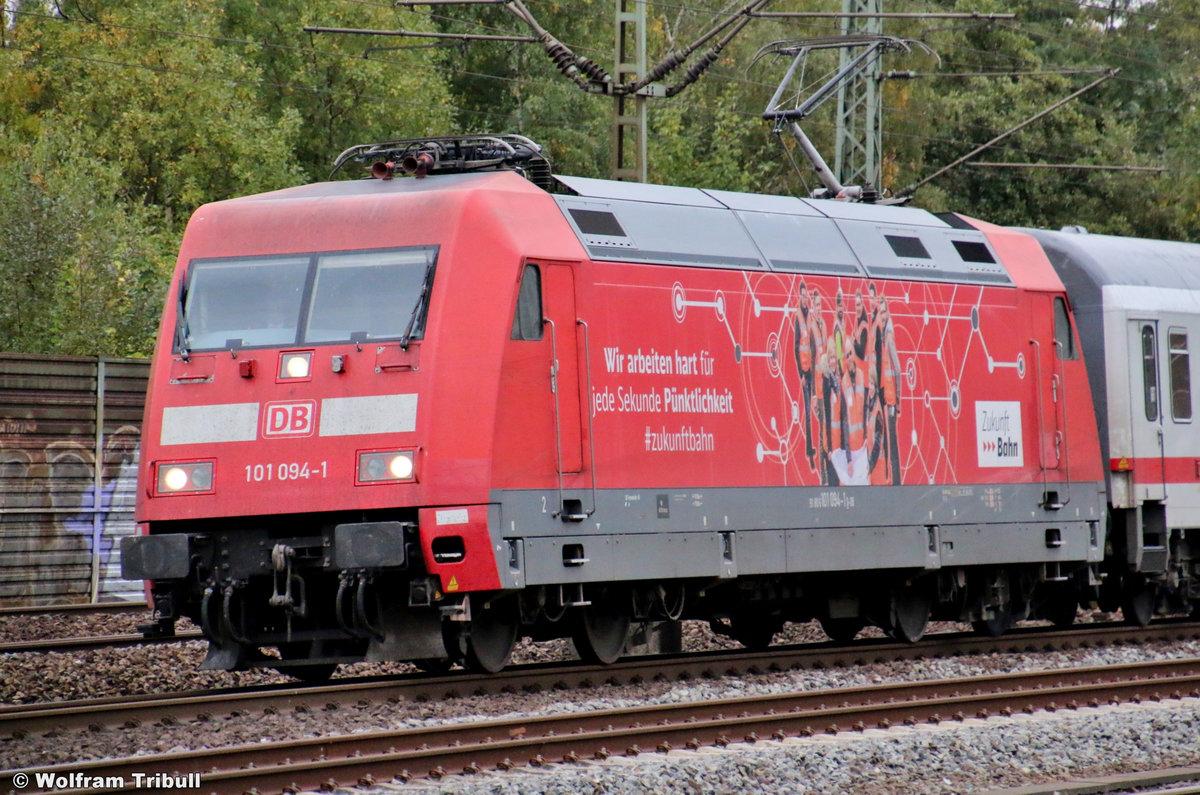 101 094-1 aufgenommen am 30.09.2018 im Bahnhof Hamburg-Harburg