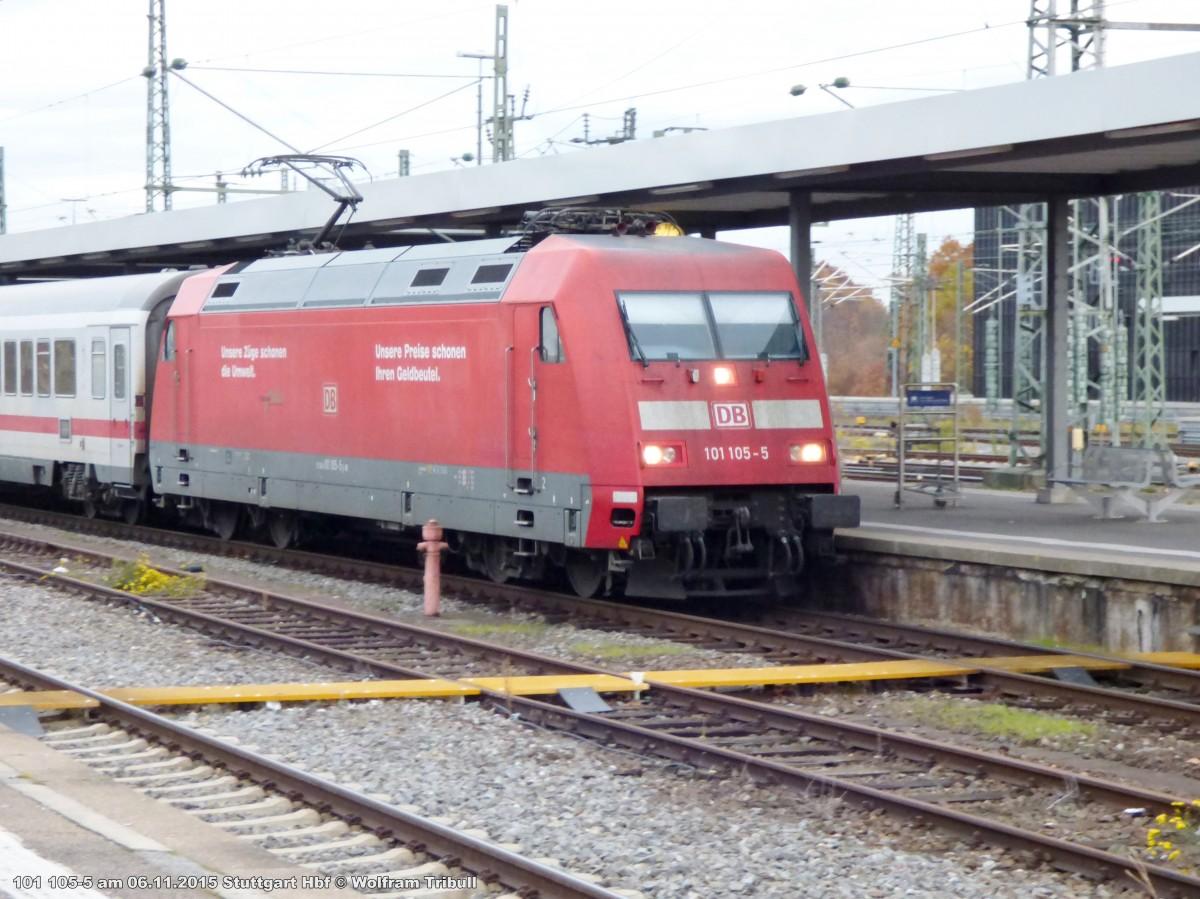 101 105-5 aufgenommen im Hauptbahnhof Stuttgart am 06.11.2015