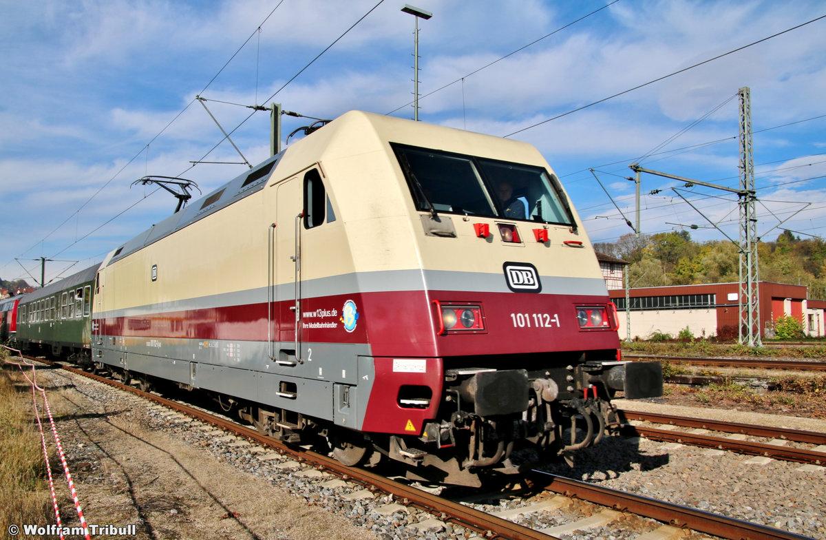 101 112-1 aufgenommen am 20.10.2019 auf den 12. Rottweiler Dampftagen im Bahnhof Rottweil