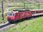 102/593378/hge-44-ii---102-der HGe 4/4 II - 102 der Matterhorn-Gotthard-Bahn von Andermatt nach Disentis aufgenommen am 04.06.2015 zwischen Andermatt und dem Oberalppass